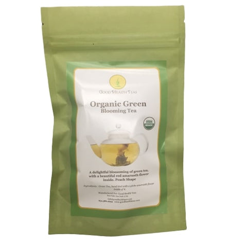 Organic Green Blooming Tea - 1 bag - 8 balls