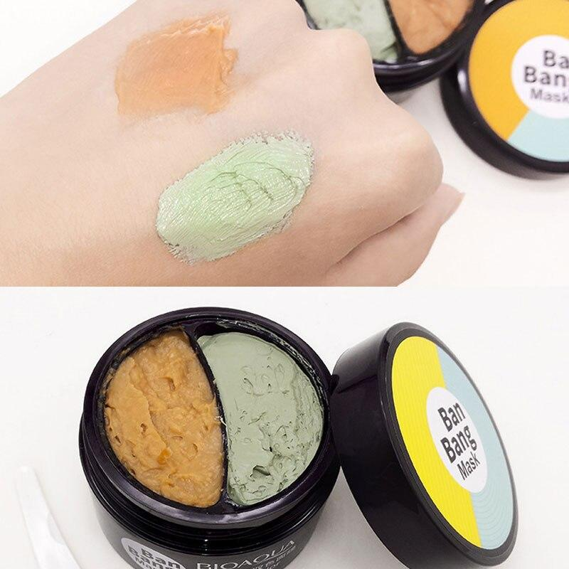 Cool Style Fashion Double Color Face Mask Moisturizing Cream