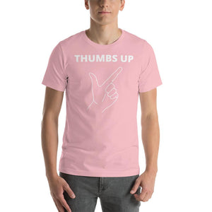 Cool Style Fashion Pink / S Funny Thumbs-Up Printed Design Short-Sleeve Unisex T-Shirt