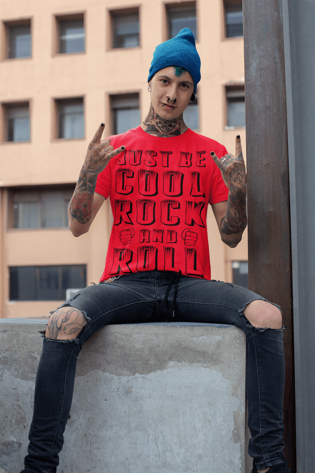 Cool Style Fashion t-shirt Just Be Cool Rock And Roll Printed Short-Sleeve Unisex T-Shirt Just Be Cool Rock And Roll Printed T-Shirt | Cool Style Fashions