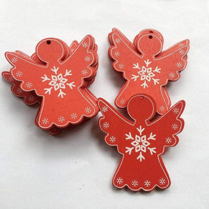 Soft Porium 18 / Xmas Angel New Year and Christmas Wood Ornaments