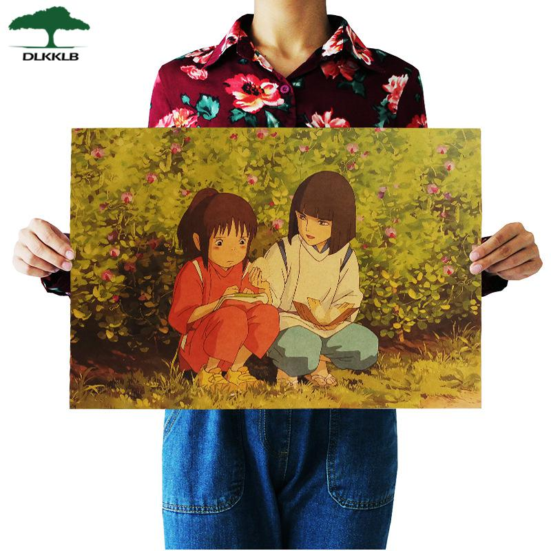 Soft Porium As shown 13 Dlkklb Hayao Miyazaki Anime Movie Poster Set