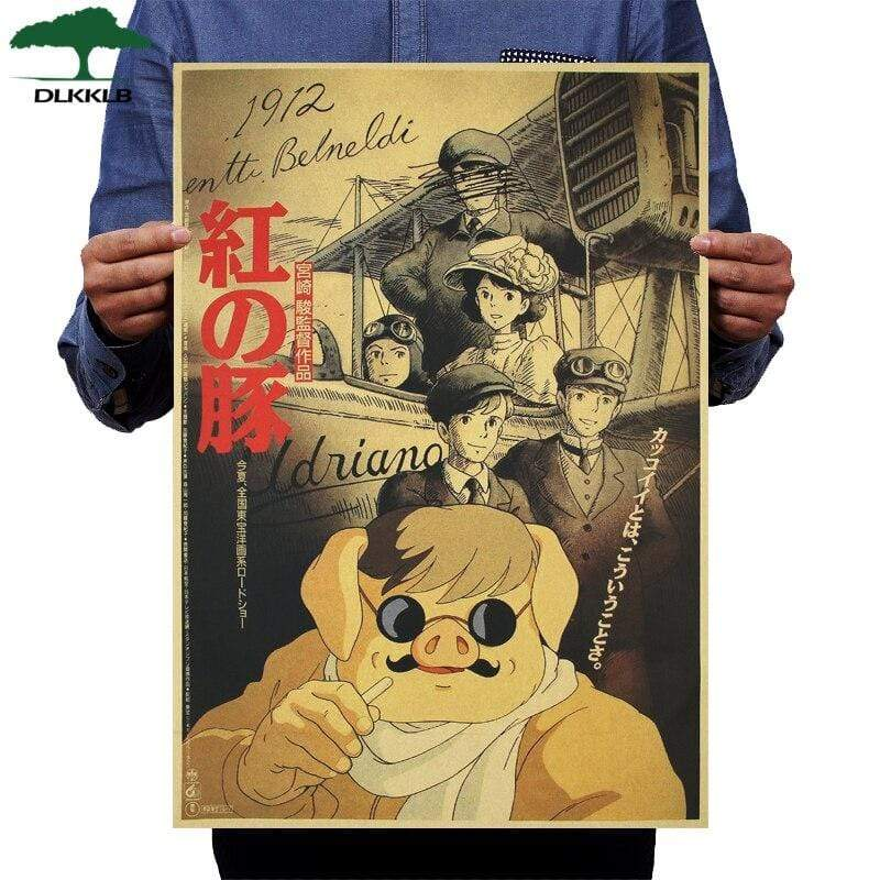 Soft Porium As shown 23 Dlkklb Hayao Miyazaki Anime Movie Poster Set