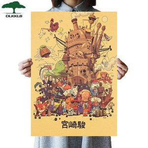 Soft Porium As shown 27 Dlkklb Hayao Miyazaki Anime Movie Poster Set
