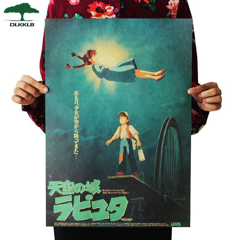Soft Porium As shown 5 Dlkklb Hayao Miyazaki Anime Movie Poster Set