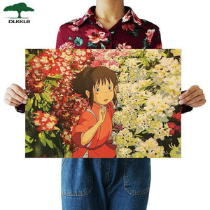 Soft Porium As shown 8 Dlkklb Hayao Miyazaki Anime Movie Poster Set