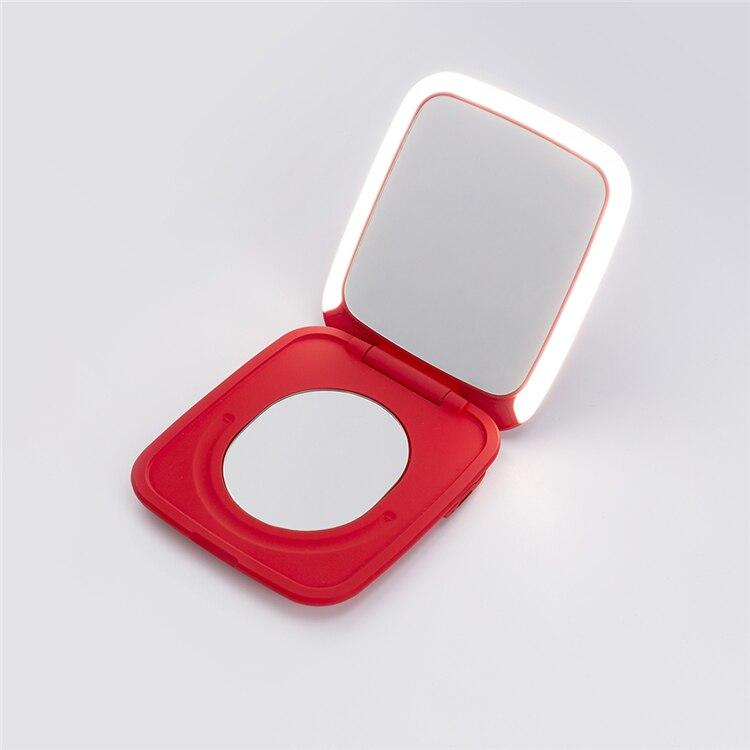 Soft Porium Beauty Pocket Mini Led Makeup Mirror - Mobile Charger