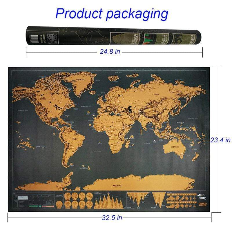 Soft Porium Deluxe World Map Deluxe Black Decoration World Map