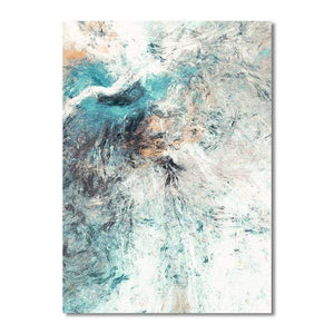 Soft Porium Modern Simplicity of Abstract Canvas Paintings Modular Pictures Wall Art Canvas for Living Room Decoration No Framed