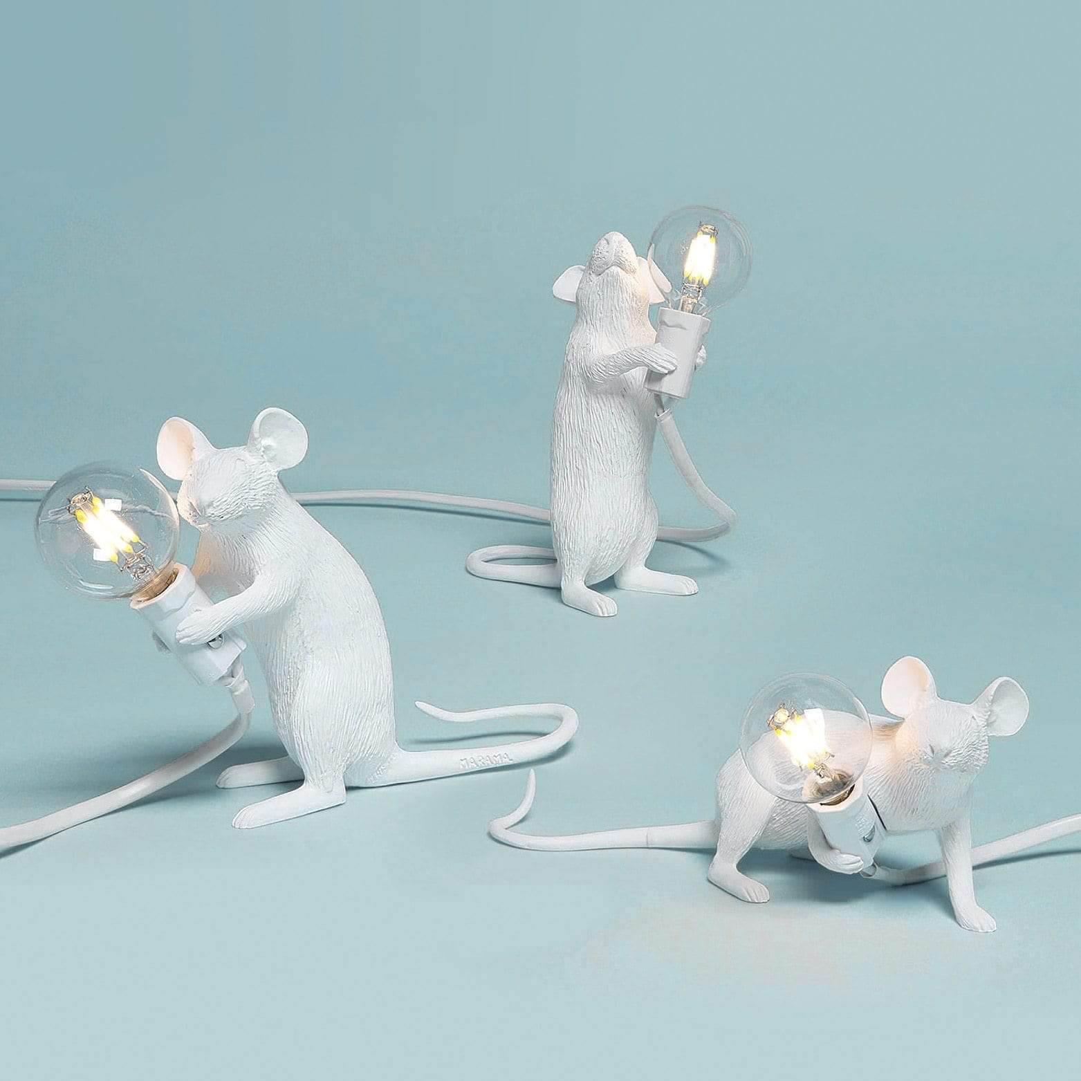 Soft Porium Mouse Resin Table Lamps