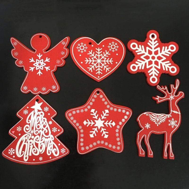 Soft Porium New Year and Christmas Wood Ornaments