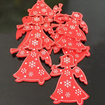 Soft Porium Red / Trumpet Angel New Year and Christmas Wood Ornaments