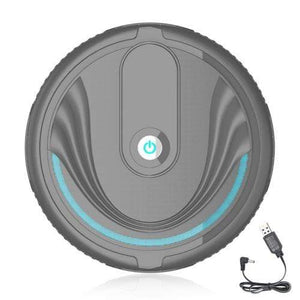 Soft Porium Robot Vacuum Cleaner Black  Rechargeble Smart Robot Vacuum Cleaner