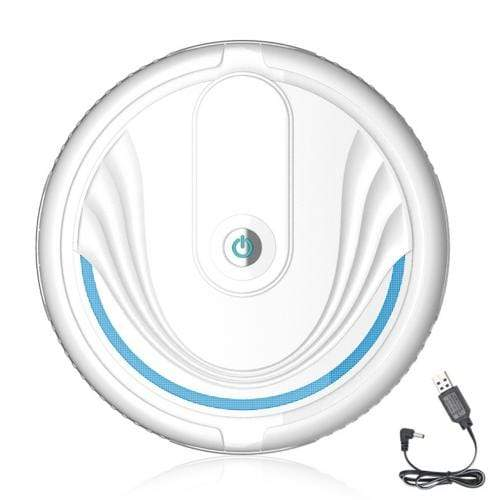 Soft Porium Robot Vacuum Cleaner White  Rechargeable Smart Robot Vacuum Cleaner