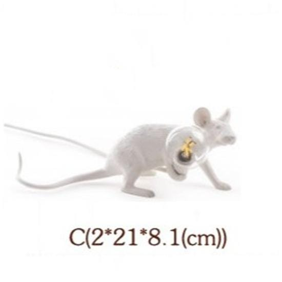 Soft Porium White / Carrying Light Mouse Resin Table Lamps