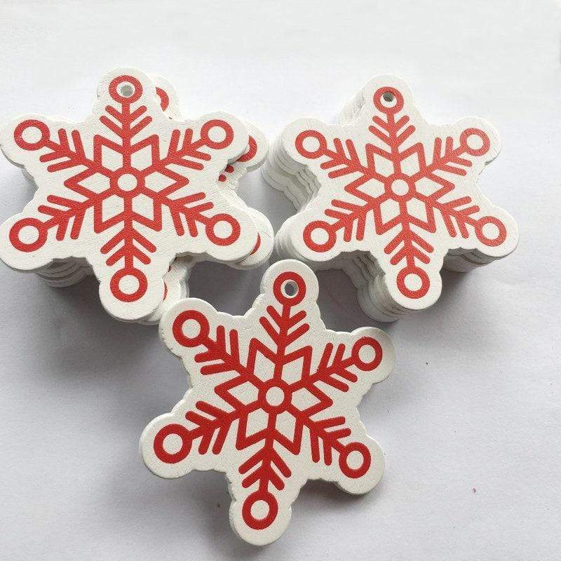 Soft Porium White / Frost New Year and Christmas Wood Ornaments