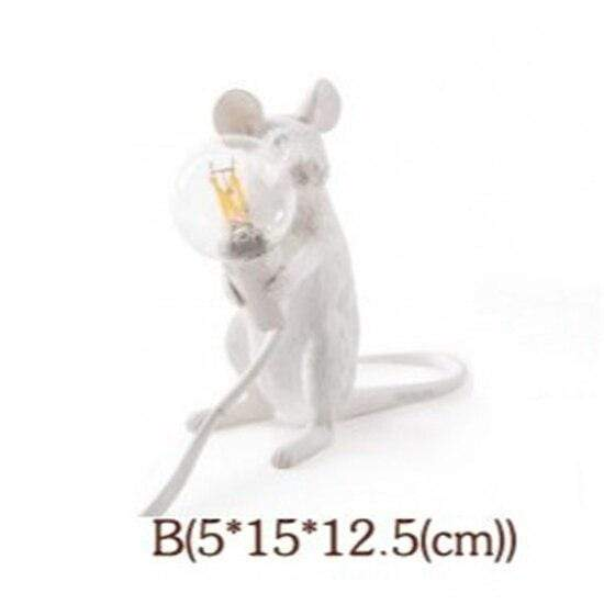 Soft Porium White / Holding Light Mouse Resin Table Lamps