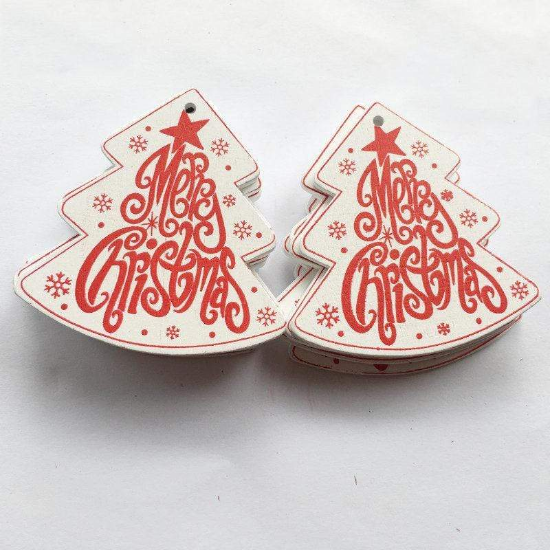 Soft Porium White / Merry Xmas New Year and Christmas Wood Ornaments