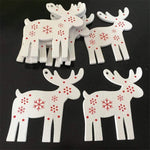 Soft Porium White / Rudolph New Year and Christmas Wood Ornaments