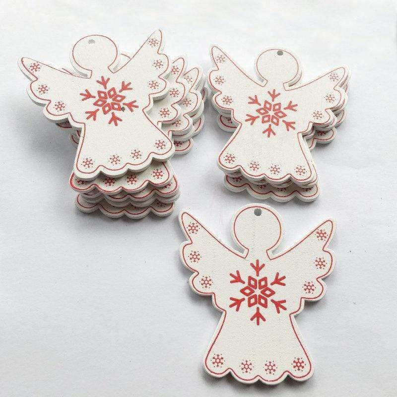 Soft Porium White / Xmas Angel New Year and Christmas Wood Ornaments