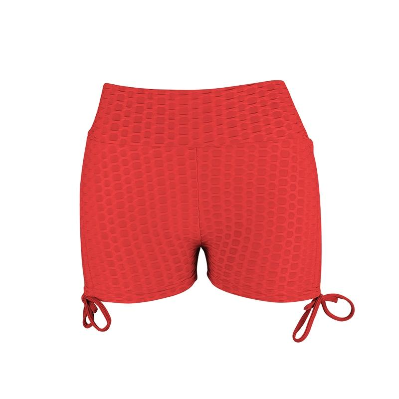 Soft Porium women booty shorts red / S Women Booty Shorts