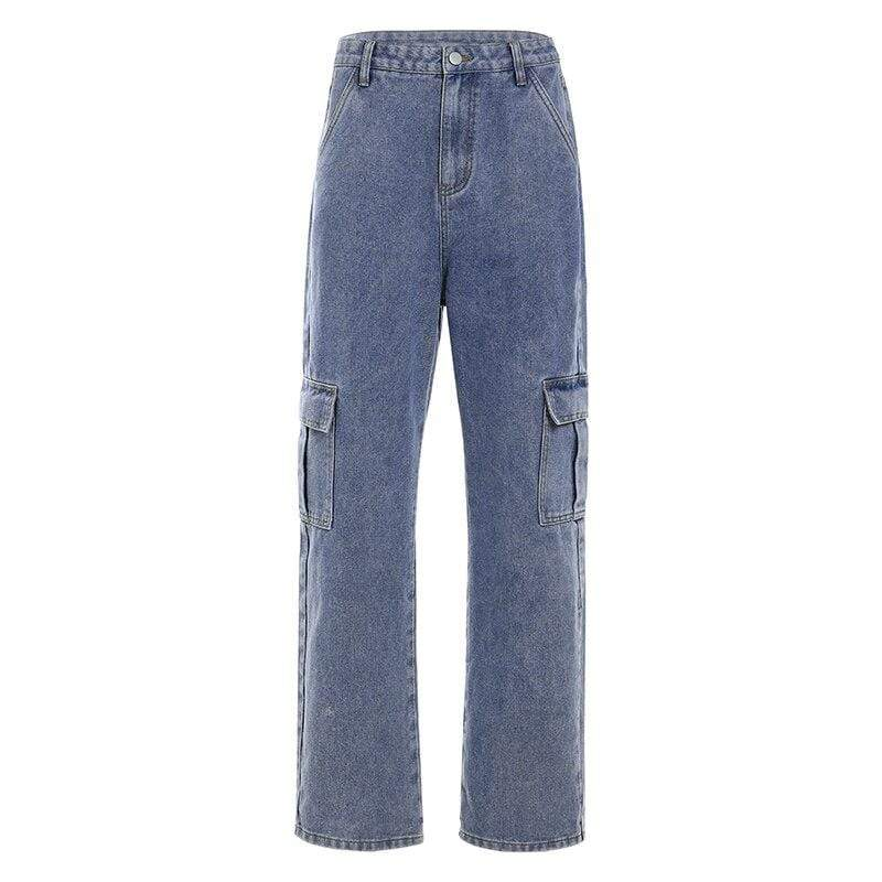 Soft Porium women denim pants Blue / L Fashion Women Denim High Waist Pants Fashion Women Denim High Waist Pants - Soft Porium