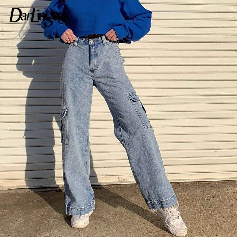 Soft Porium women denim pants Fashion Women Denim High Waist Pants Fashion Women Denim High Waist Pants - Soft Porium