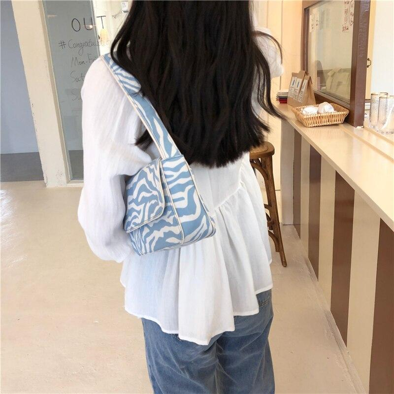 Soft Porium women handbags Blue / 24x5x14cm Vintage Design Women Canvas Baguette Handbags