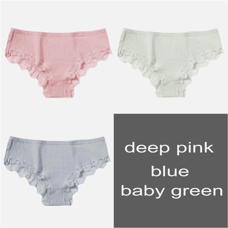 Soft Porium women's panties 3Pcs Solid Women's Comfort Panties