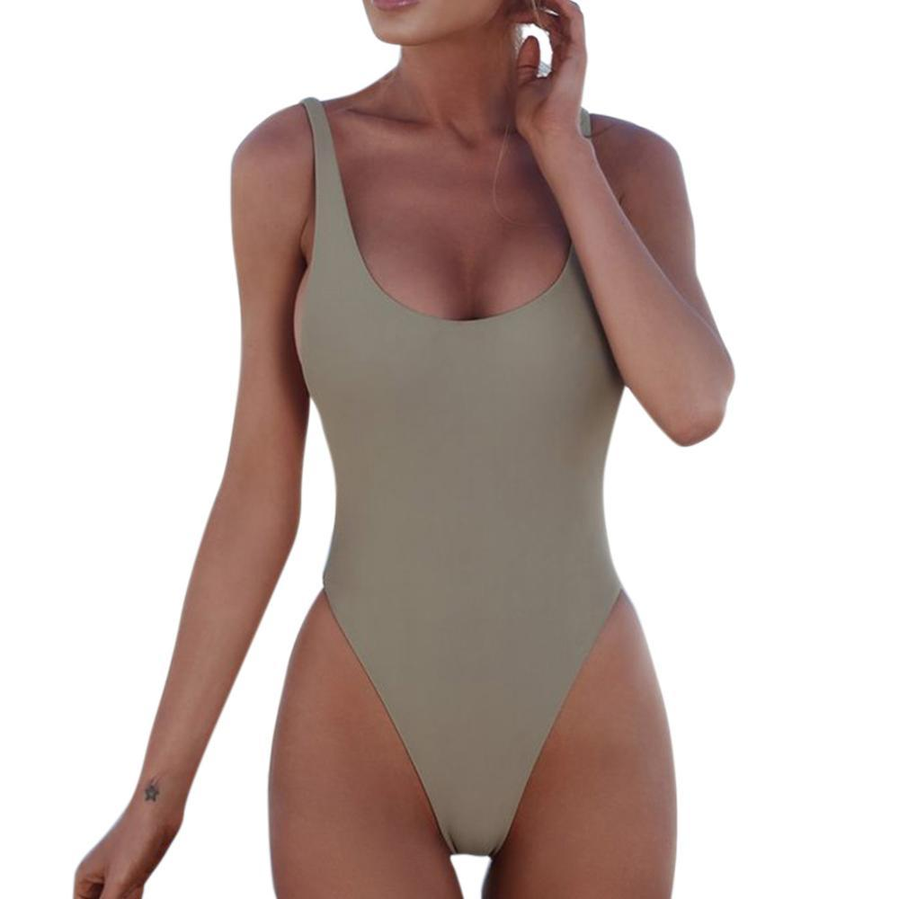 Soft Porium women swimsuit AS  picture  show / S 4 Sexy One Piece Swimsuit