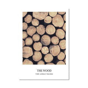 Soft Porium Wood / 50x70 cm Scandinavian Poster Nordic Style Deer Wood Wall Art Canvas