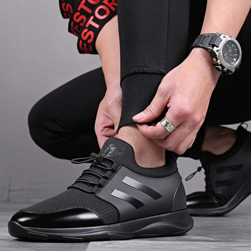 Soft Porium - Your Mega-Superstore For Great Deals Black Mesh Men Comfortable Walking Sneakers Size 37-43