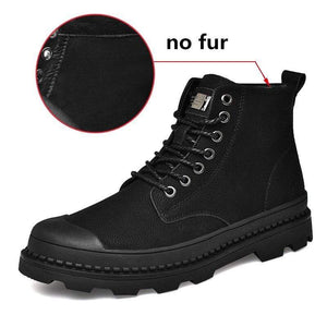 Soft Porium - Your Mega-Superstore For Great Deals Black without Fur / 12 Black Warm Winter Men Boots
