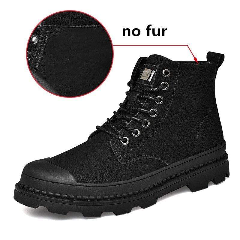 Soft Porium - Your Mega-Superstore For Great Deals Black without Fur / 6 Black Warm Winter Men Boots