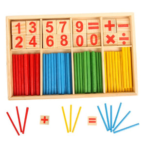 Montessori Toys Math Educational Wooden Toys for Children Early Learning Puzzle Kids Number Counting Sticks Teaching Aids GYH