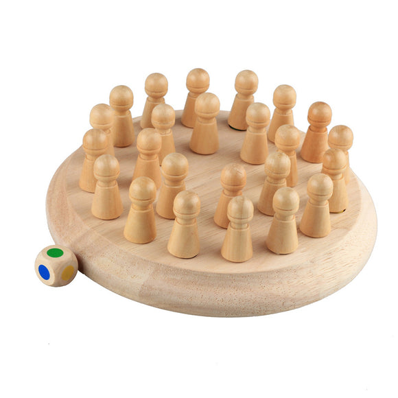 Kids Wooden Memory Match Stick Chess Game Fun Block Board Game Montessori Educational Color Cognitive Ability Toy for Kids