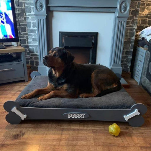"""PAWFECTLY UNIQUE"" ""Teddy"" Personalised Wooden Dog Bed Horizontal Design, Multi Colour Choices S, M and L, Teddy Dog Bed, sophistipaws, sophistipaws"