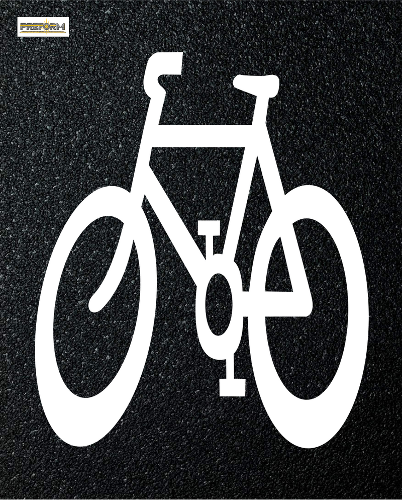 Preformed Thermoplastic Bike Lane Symbols Bicycle Symbol Canadian 6.5'x3.28' Pavement Marking
