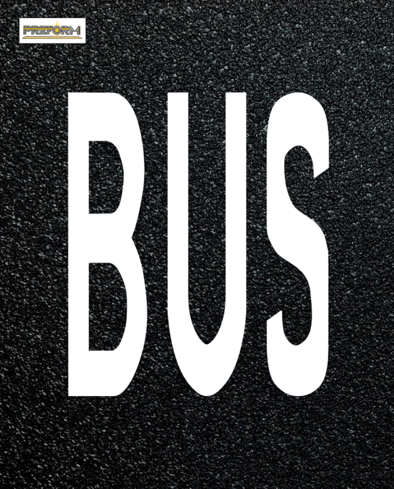 Preformed Thermoplastic Legends BUS Pavement Marking