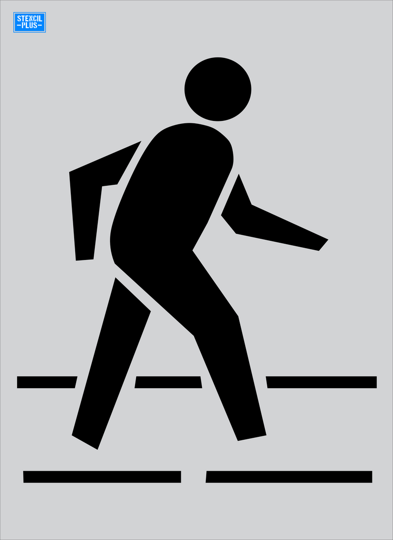 "52"" Pedestrian Crossing Symbol Stencil Pavement Marking Stencil"