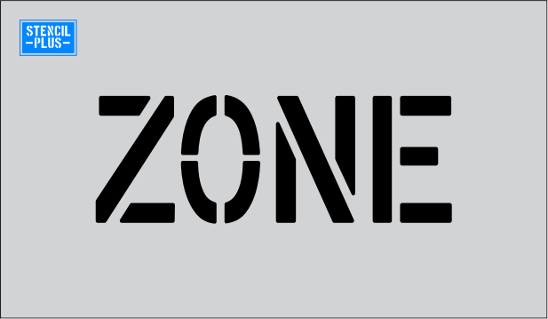 "4"" Word - ZONE  Parking Lot  Pavement Marking Stencil"