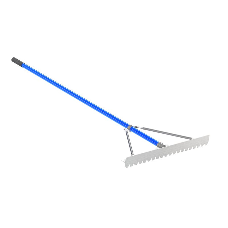 "Sharp Tooth Lute Rake - 30"" With 6' Handle"