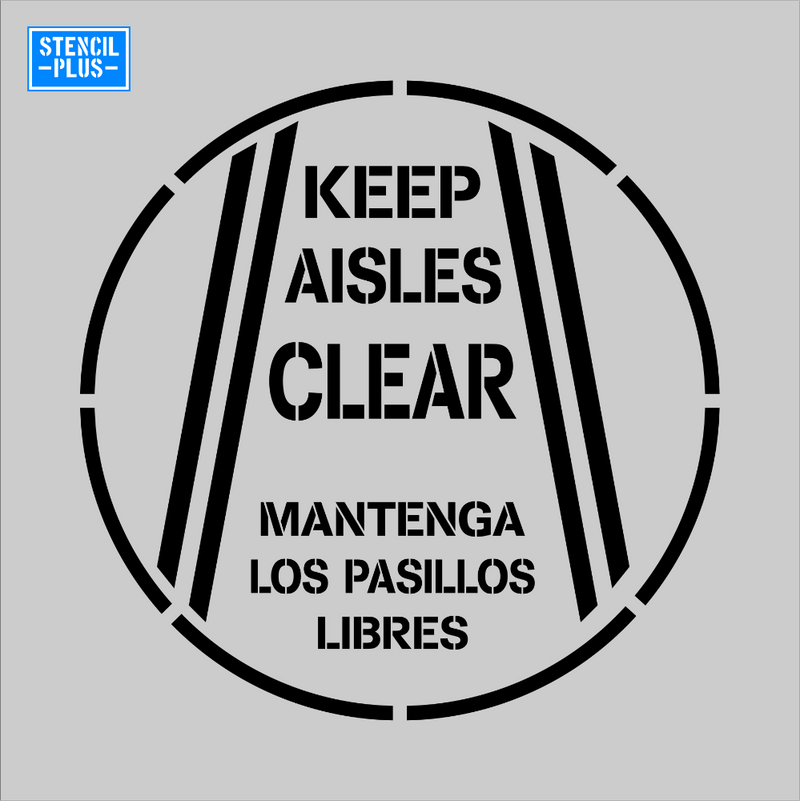 KEEP AISLE CLEAR (Spanish Version) Safety Warehouse Industrial Safety OSHA Stencil