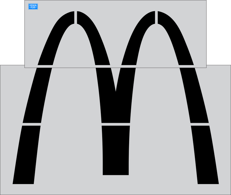 "McDonald's Arch 64"" Parking Lot  Pavement Marking Stencil"