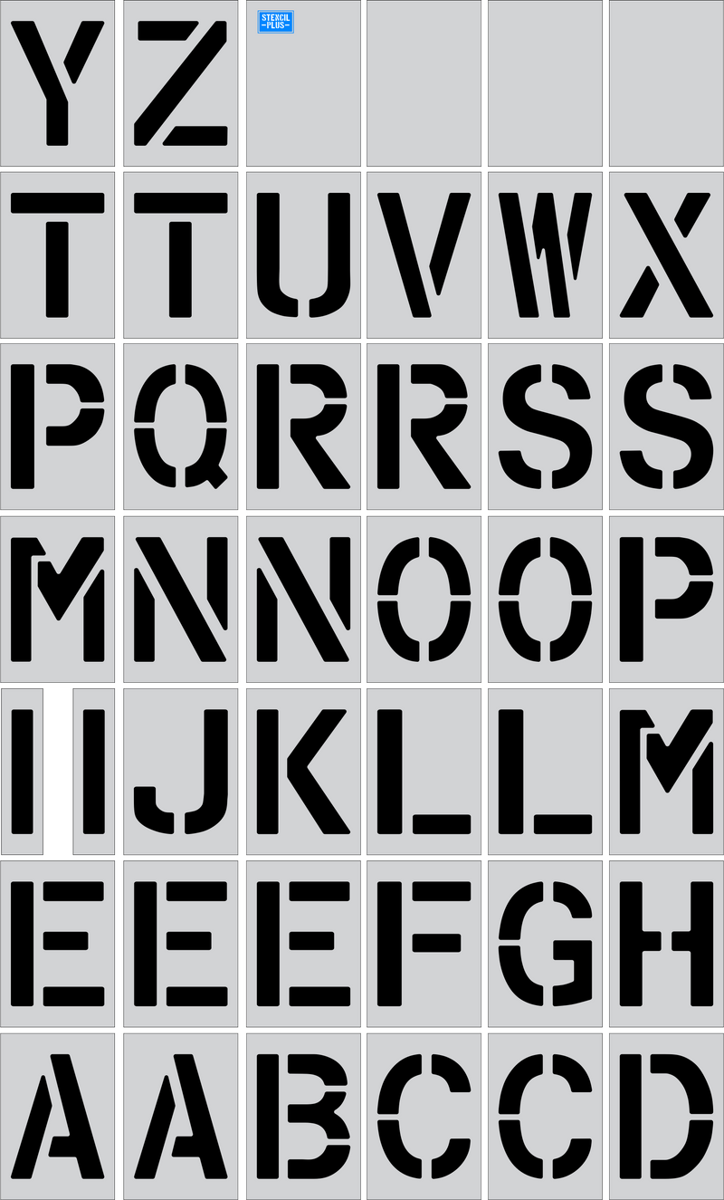 "10"" Alphabet Stencil Kit Parking Lot Stencil Pavement Marking Stencil"