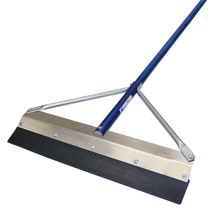 "24"" Round Edge SealCoat Squeegee with 6' Handle"