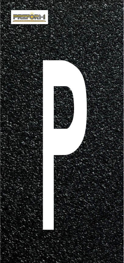"Preformed Thermoplastic Individual Letters  48"" Pavement Marking"