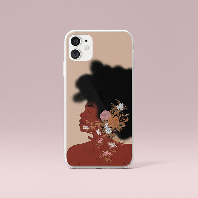 Custodia per iPhone Gold Black Woman Art