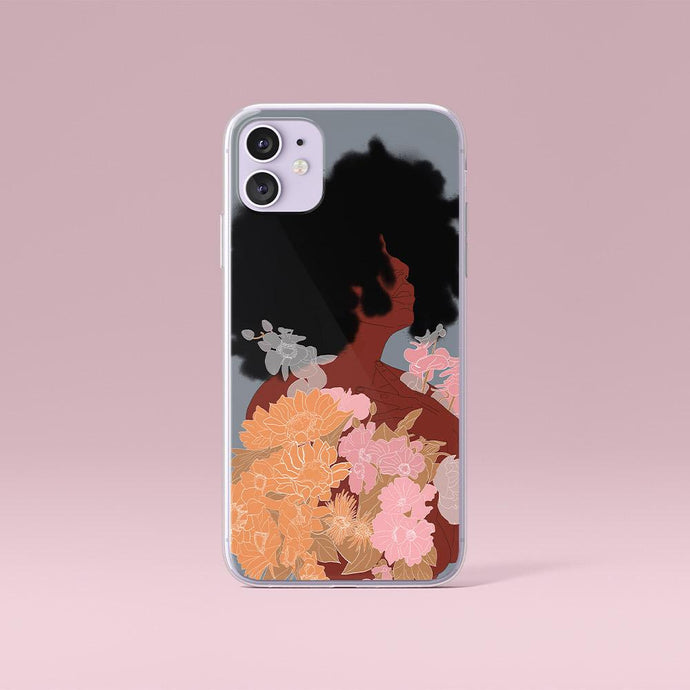 Afro Woman Art iPhone Case