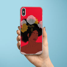 Load image into Gallery viewer, Red iPhone Case Black Woman Print